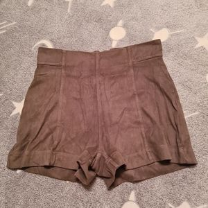 Factorie 8 Brown High Waisted Branded Lady Shorts